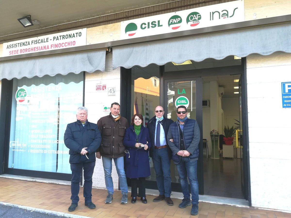 🍀#Roma  #InaugurationDay Oggi inauguriamo la nuova sede @CislRomaRieti in zona Borghesiana Finocchio, periferia Est della Capitale. Una nuova sede di servizi aperti alla cittadinanza, lavoratori e lavoratrici, pensionati, giovani e famiglie.