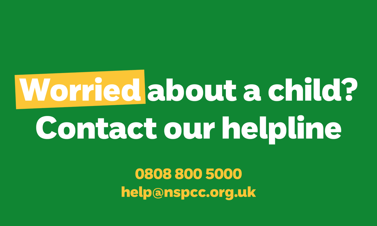 Thanks to our campaign with @healthdpt, we want parents and carers in the community to know if they need support, they can speak to local safeguarding and family support services, https://t.co/aTIL0PJKj6 or contact our helpline on 0808 800 5000 or email help@nspcc.org.uk. https://t.co/XhMuAoXYZe