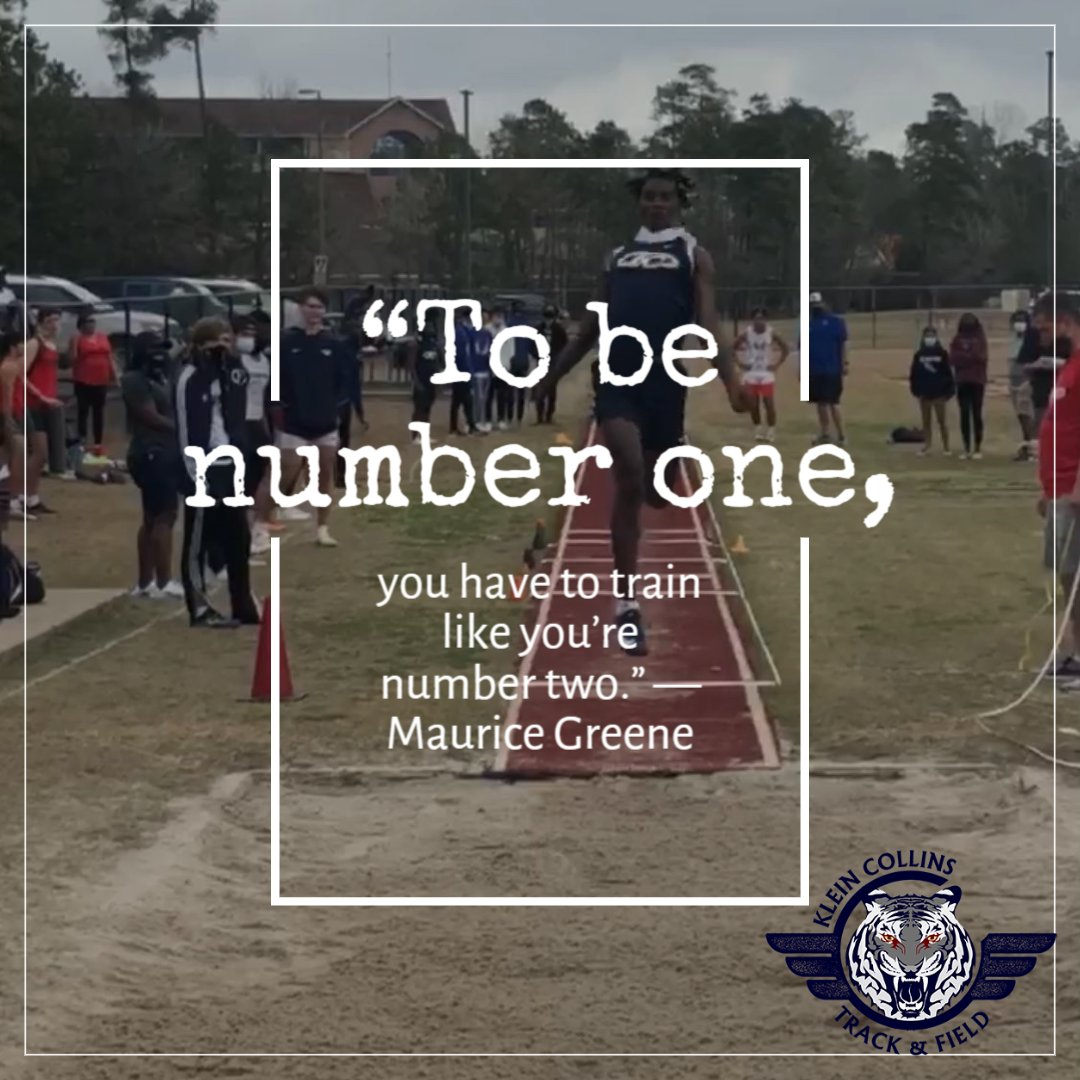 To be #1, you have to train like you're number 2.  #tuesdaythoughts @KCGirlsTrack @KC_BoysTrack #tigerpride