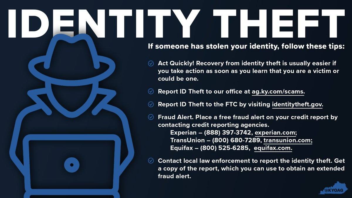 If you think your identity has been stolen, it's important to act quickly to protect your information. Follow these tips to report ID theft. #NCPW2021