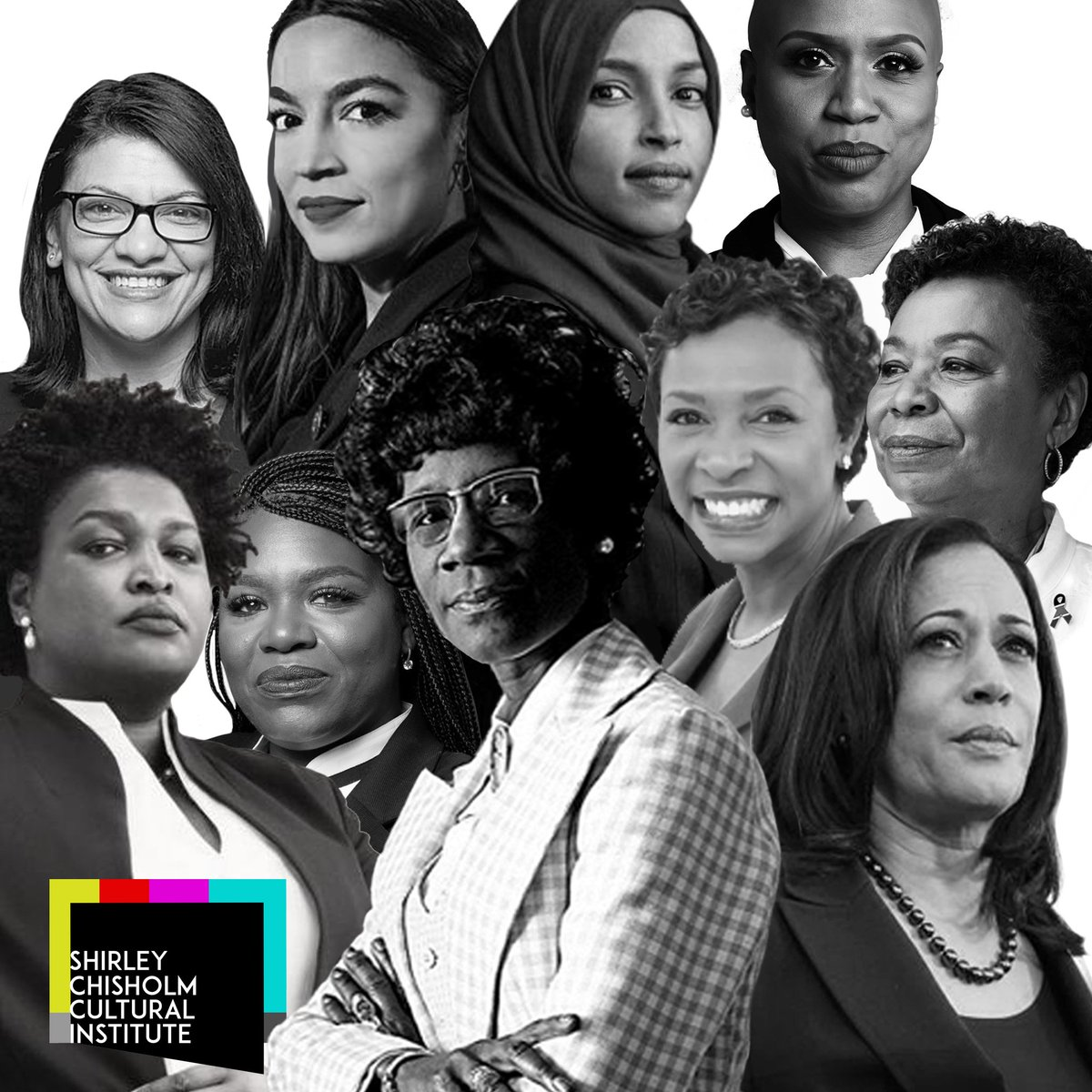 Everyday is #womenhistorymonth #blackwomenlead #blacklivesmatter #blackwomeninpolitics #blackgirlmagic #womeninpolitics @VP @RepBarbaraLee @RepYvetteClarke @staceyabrams @RepAOC @RepPressley @CoriBush @Ilhan @RepRashida #ShirleyChisholm design by @producestories