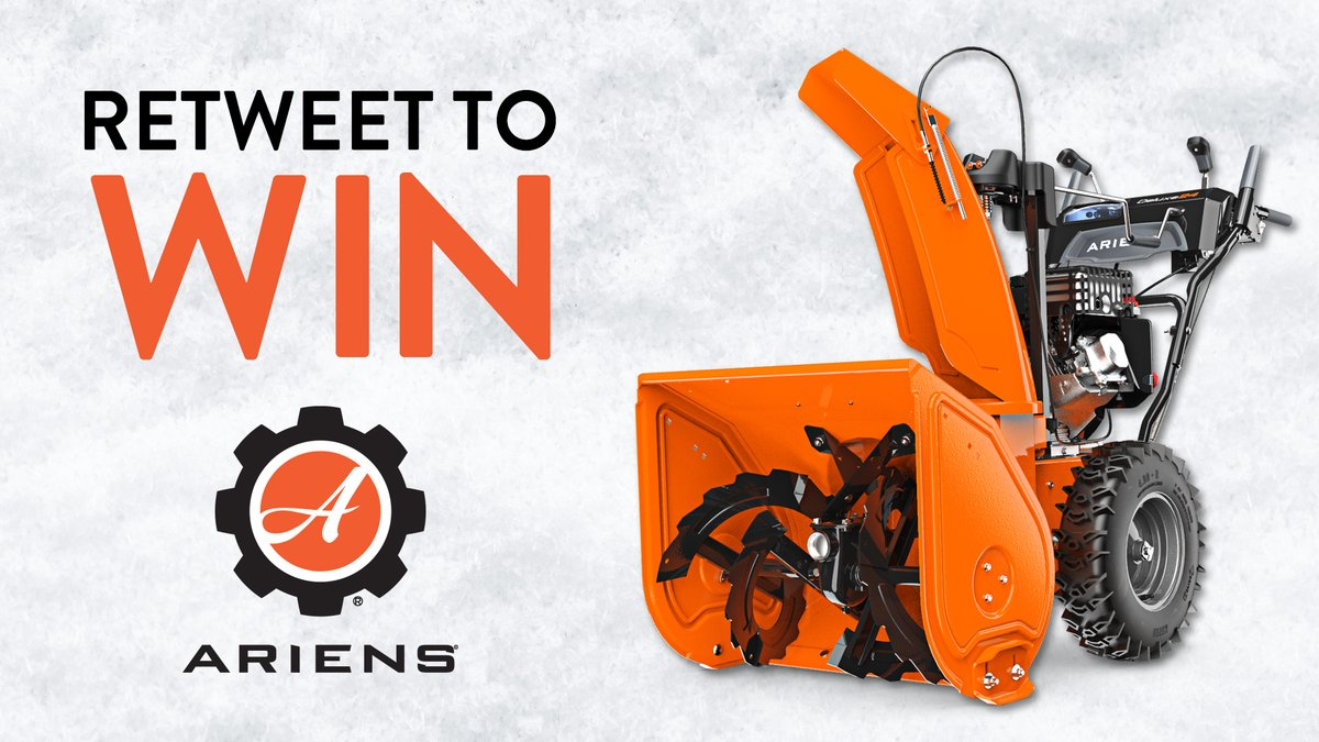 Follow us & retweet for your chance to win an @Ariens Sno-thro!  Contest rules 📄:
