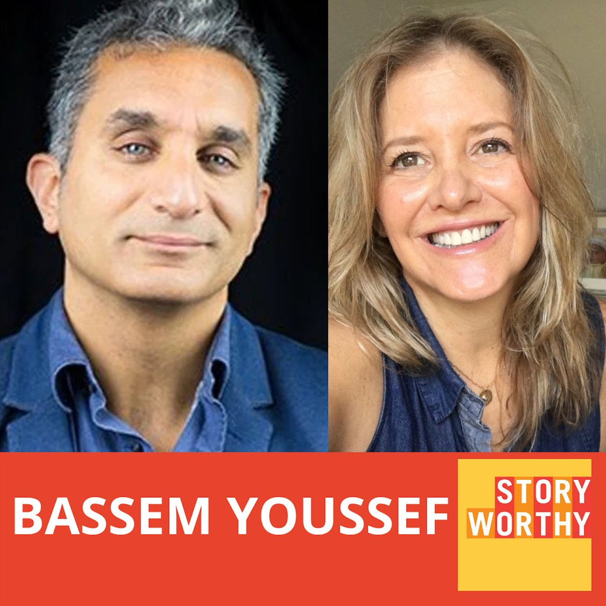 """Comic/Author Bassem Youssef @Byoussef (The Magical Reality of Nadia) was a star in Egypt with his show """"El-Bernameg"""" until the government turned against him and he was """"cancelled"""" and had to flee.  Listen to this incredible story https://t.co/ysaGBooe5d #Egypt #Interrogation https://t.co/netX9ynmjc"""