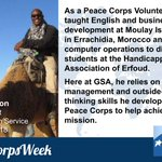 As a Peace Corps Volunteer, Jerome taught English and business development in Morocco.   At GSA, he works as a Contract Specialist for the Federal Acquisition Service and uses the skills he developed during his @PeaceCorps service to help achieve the GSA mission. #PeaceCorpsWeek