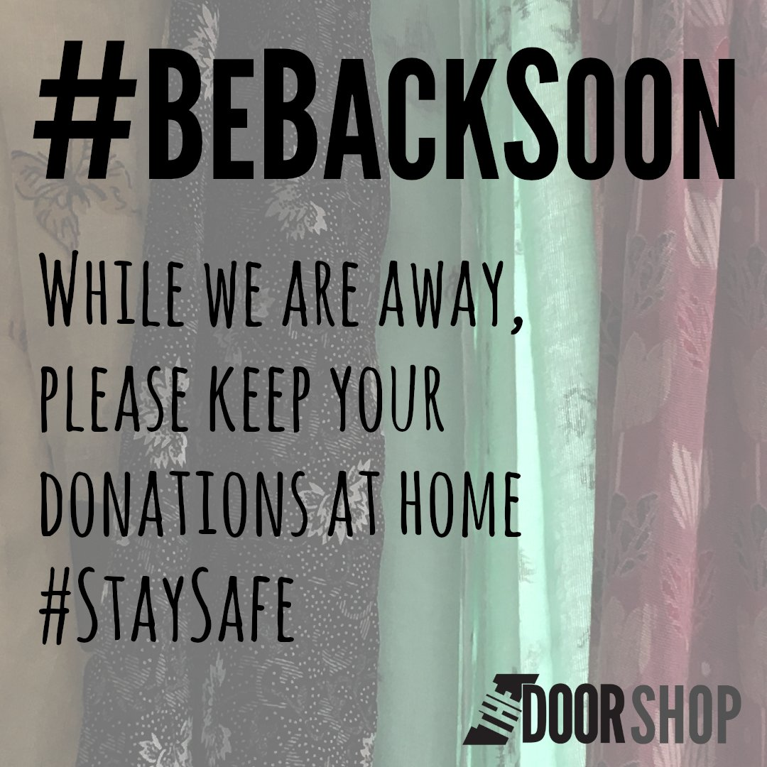 We can't wait to be back in business on #Stroud High Street -  while we are away please keep your donations at home and #StaySafe Thank you! #CharityShop #CharityTuesday #ShopLocal