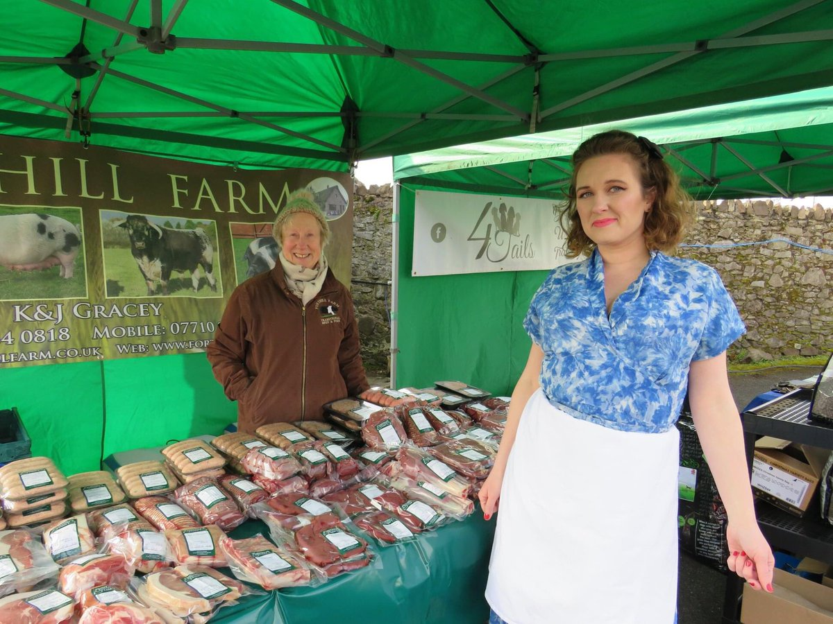 The lovely Jennifer from Forthill Farm Shop is looking forward @ComberMarket this Thurs 4 March to welcome regular and new visitors to try out the delicious range of meat available with burgers, sausages chops and more. #LoveLocalComber #BestNILocalMarket #SupportLocal #StaySafe