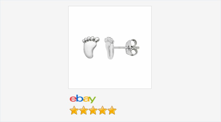 Brand New 925 Sterling Silver Footprint Stud Earrings-Boxed | eBay #sterlingsilver #footprint #stud #earrings #cute #jewellery #gifts #giftideas #giftshop #jewelry #jewelrylover #jewelryaddict #love #onlineshopping #staysafe #pregnancy #babyshower #sale