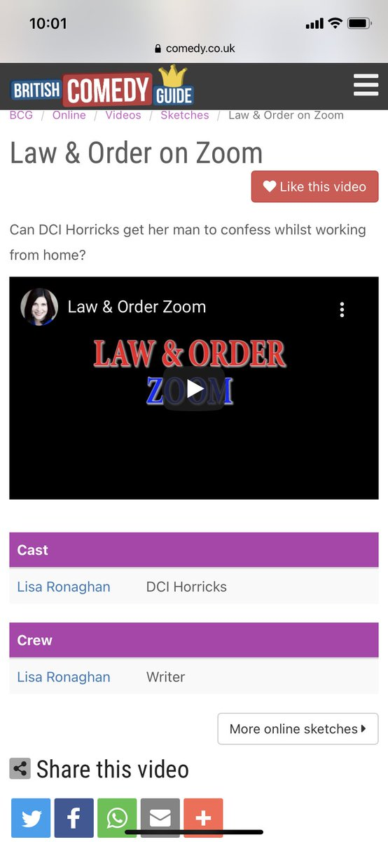 Law & Order: ZOOM is on The British Comedy Guide. Check it out on my page or  #comedy #sketch #workfromhome #homeschooling #crime #fun #murder #lol #lawandorder #zoom #covid_19 @BritishComedy