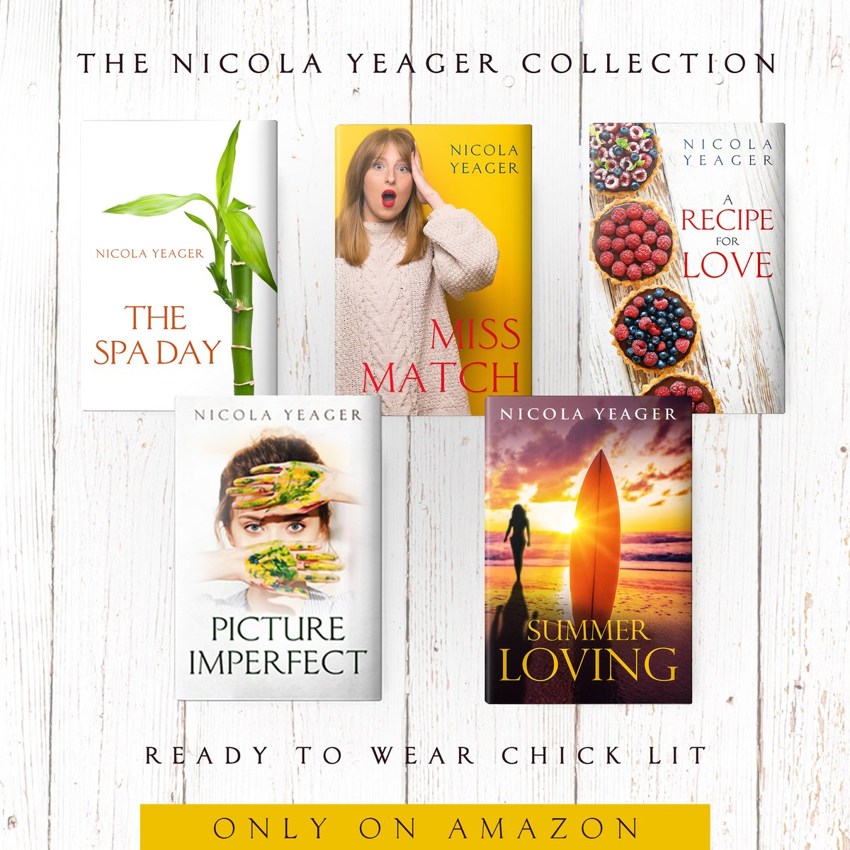 Nicola Yeager's Amazon Author Page on Amazon.  The only place you'll find Nicola Yeager's Amazon Author Page.  And that's a promise.    #Fun #HighQuality #ChickLit