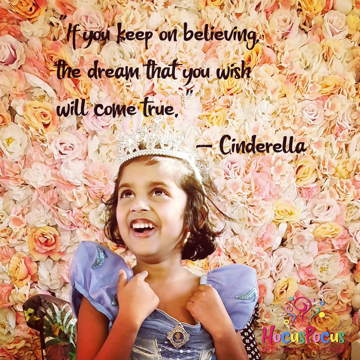 """""""If you keep on believing, that dream that you wish will come true,"""" - Cinderella  #hocuspocusparties #princess #princessparty #wirral  #wirralkids #wirralbusinesses #wirralbusinesses #cheshire #party2021 #partyideas #quotes #quoteoftheday #picoftheday #disneyprincess"""