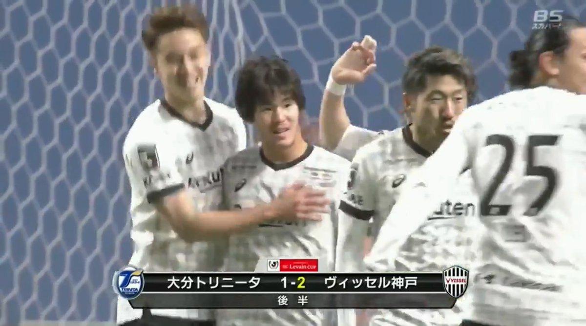 #ヴィッセル神戸 #中坂勇哉 51分にヘディングで逆転ゴール👏  今度は神戸がリードする展開に!  #ルヴァンカップ