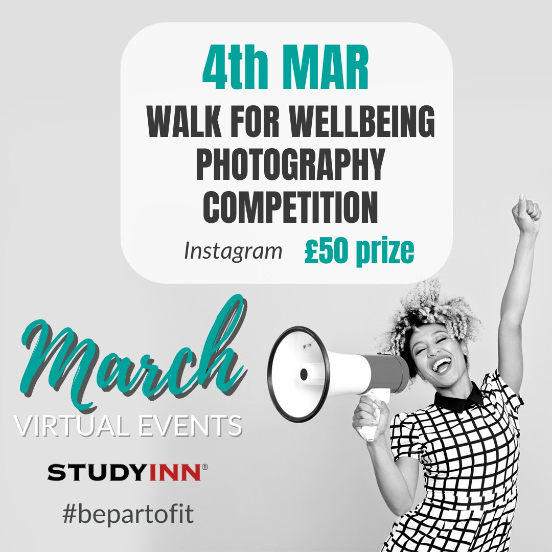 The 4th of March is the #UniMentalHealthDay and in line with this awareness day we would like to motivate you to go for #wellbeing walks starting from today 🙂   Visit our #Instagram page to learn how to participate in this competition.  #studentlife #Motivation #bepartofit
