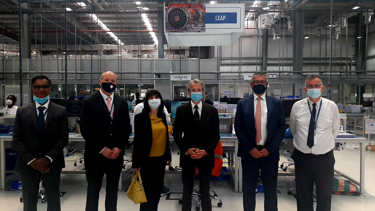 At @Safran's brand new factory in #Hyderabad, where the French major produces components for LEAP engines exported across the world and for M88 engines used in #Rafale jets. #MakeInIndia https://t.co/IwUbgAccH0