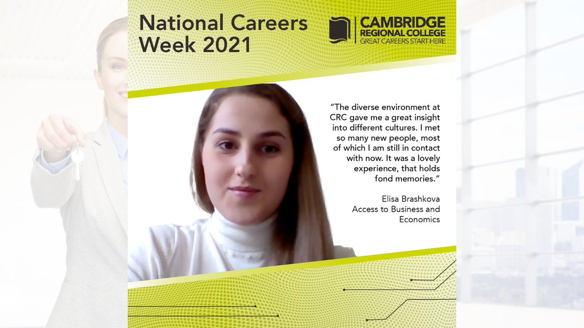 An Access to HE put Elisa Brashkova on the right track to complete a degree in International Business Management. Elisa has since started her career in Property Management. Find out about Elisa's journey to a great career, https://t.co/vADPG9NYoa @CareersWeek  #WeAreCRC #NCW2021 https://t.co/lLLmFrLLRs