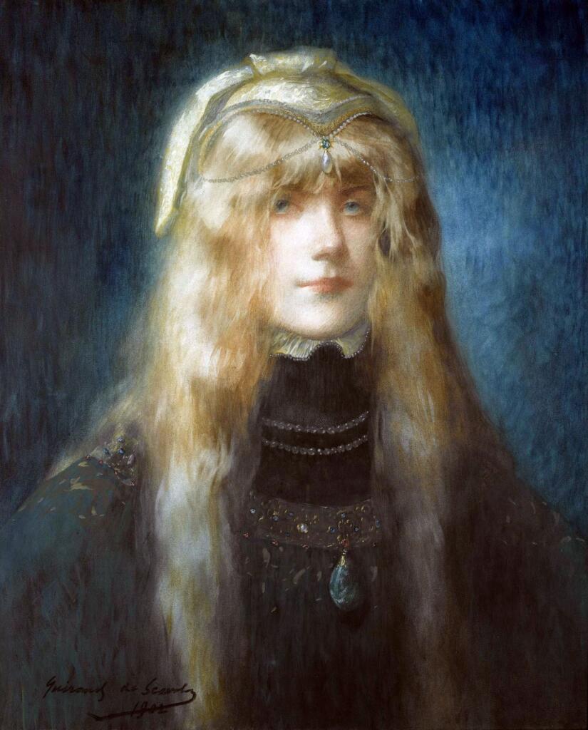 #Lucien #Victor #Guirand IV (Sé, 14/11/1871 - Parigi, 29/03/1950 - Um pintor simbolista genial The Princess #ArtesPlásticas #Pinturas #Paints #artfinder #ArtGallery #Peinture #Art #FineArt #BlogdoMesquita #José #Mesquita + Artes->