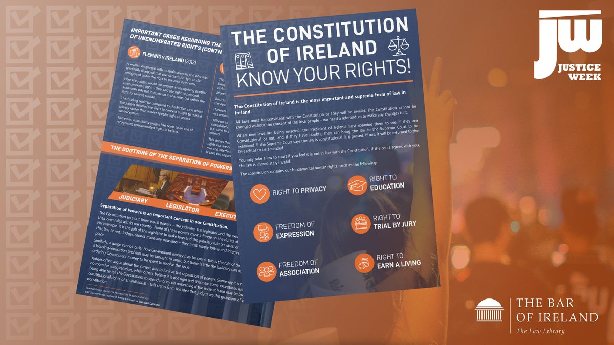 Day 2 of #JusticeWeek2021 - we're focusing on Fundamental Rights.   How well do you know The Constitution?   Why not take a look at our useful overview below:    https://t.co/JpcHYVZ6VG https://t.co/PbjyvzYvdo