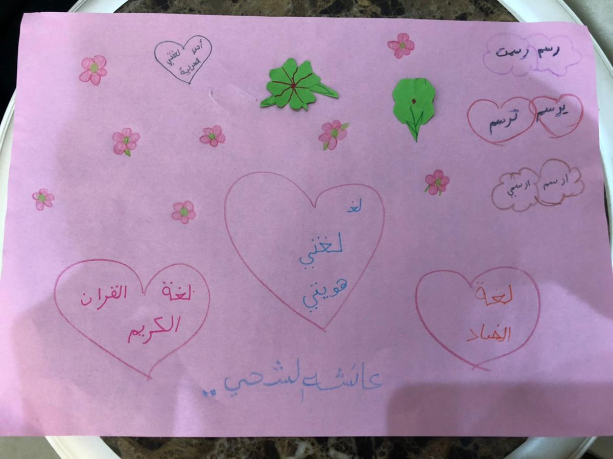 Our #AISGrade4 student Aisha expressing her love for Arabic language on #internationalmotherlanguageday. #AISPrimarySch #AISArabic