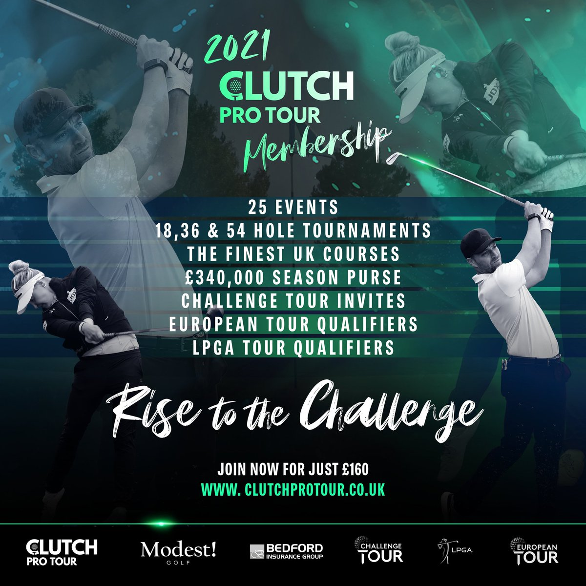 Dont miss the chance to sign up for the 2021 @clutchprotour membership 🖊️  MEMBERS RECIEVE PRIORITY BOOKING FOR ALL EVENTS 💯  The first few events @Princesgolfclub & @KnoleParkGC are open for entries today at 3pm ⛳  #clutchprotour #inclusivity #changeyourseason