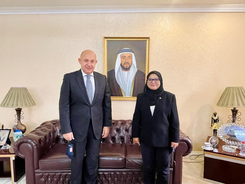 Ambassador Shabeena had a courtesy meeting with the Ambassador of Egypt H.E. Mr. Sherif El Bidewy and discussed the close brotherly relations between #Maldives 🇲🇻 and #Egypt 🇪🇬, and ways to further strengthen existing bilateral cooperation.