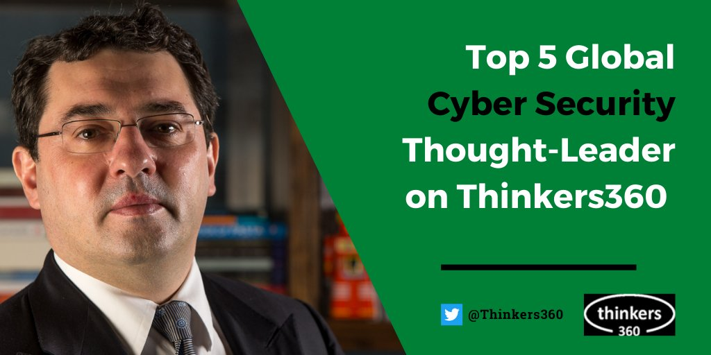 Honoured to be ranked by @Thinkers360 in the Top 5 of Global #CyberSecurity Thought-Leaders >> https://t.co/uuujCiMQYQ  #security #infosec #influencers #business #leaders #leadership #management #thoughtleaders #CISO #CIO #CTO #CEO https://t.co/I07zuIE5DA