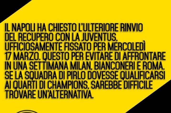 #JuventusNapoli