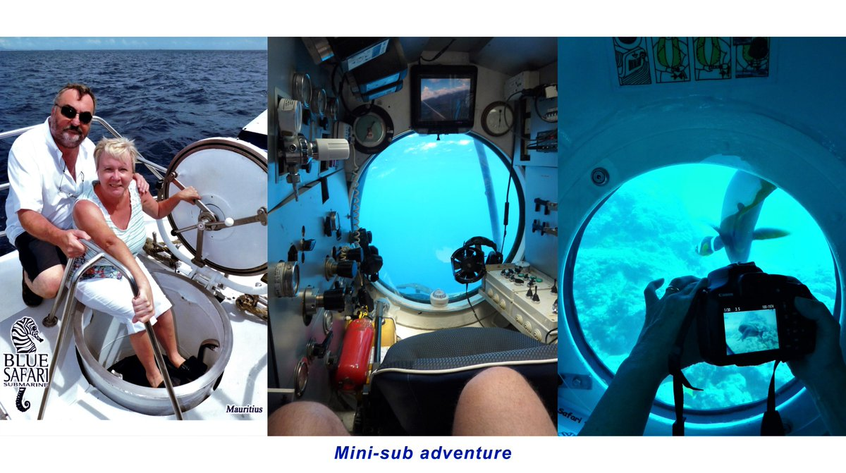Our mini-sub adventure in Mauritius we dived down 35 metres to a shipwreck and the fab coral reef.  #submarine#Mauritius #minisub#shipwreck#PortLouis #travel @MyBeauDes@FrRonconi @Nicochan33 @CurieuxExplorer @PawlowskiMario @DrHugue @Ioana9101 @Johny_P7 @wcrpaul@EvanKirstel https://t.co/XvYIUYbgOm