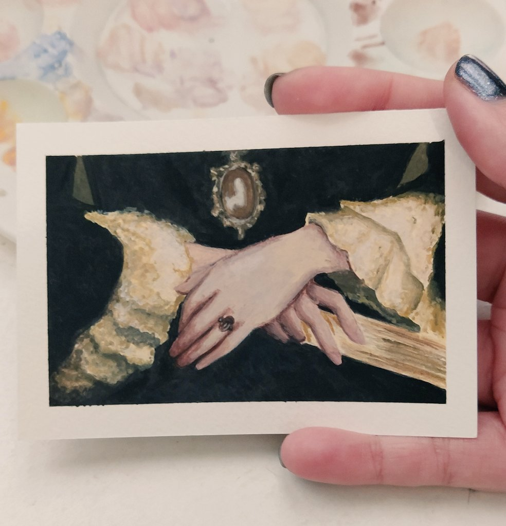 Replying to @mymicaloz: Tiny renaissance painting 🎨🖌️  Do you like it? ✨