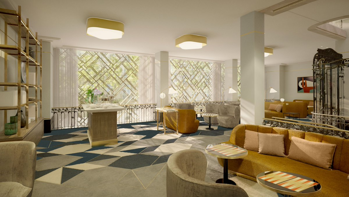 Opens Spring 2021: Kimpton St Honore Paris. 149 bedrooms & meeting space for up to 150, an indoor pool, gym & treatment rooms. Kimpton's first hotel in France; we think it looks amazing! One to add to the wish list for when we can travel again. @kimptonparis #wemakeevents