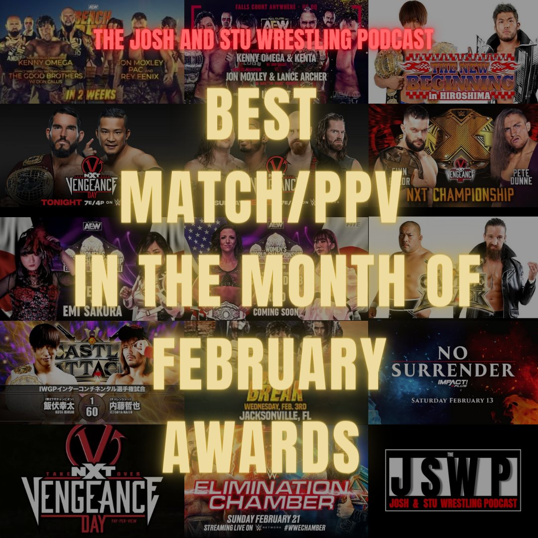 So we are back with another Best Match/PPV of the Month Award. A lot of great matchups and events last month, so it should be good.   You will find out the winners on the 26th of March 2021 here on Twitter 😀. #WWE #NJPW #NXT   So get voting 👇