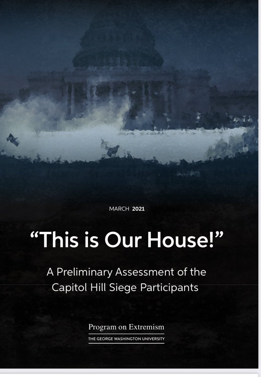 """This morning, we're releasing a new report on the events at the Capitol on January 6th. The report, entitled """"This is Our House!"""" A Preliminary Assessment of the Capitol Hill Siege Participants"""" is available here."""