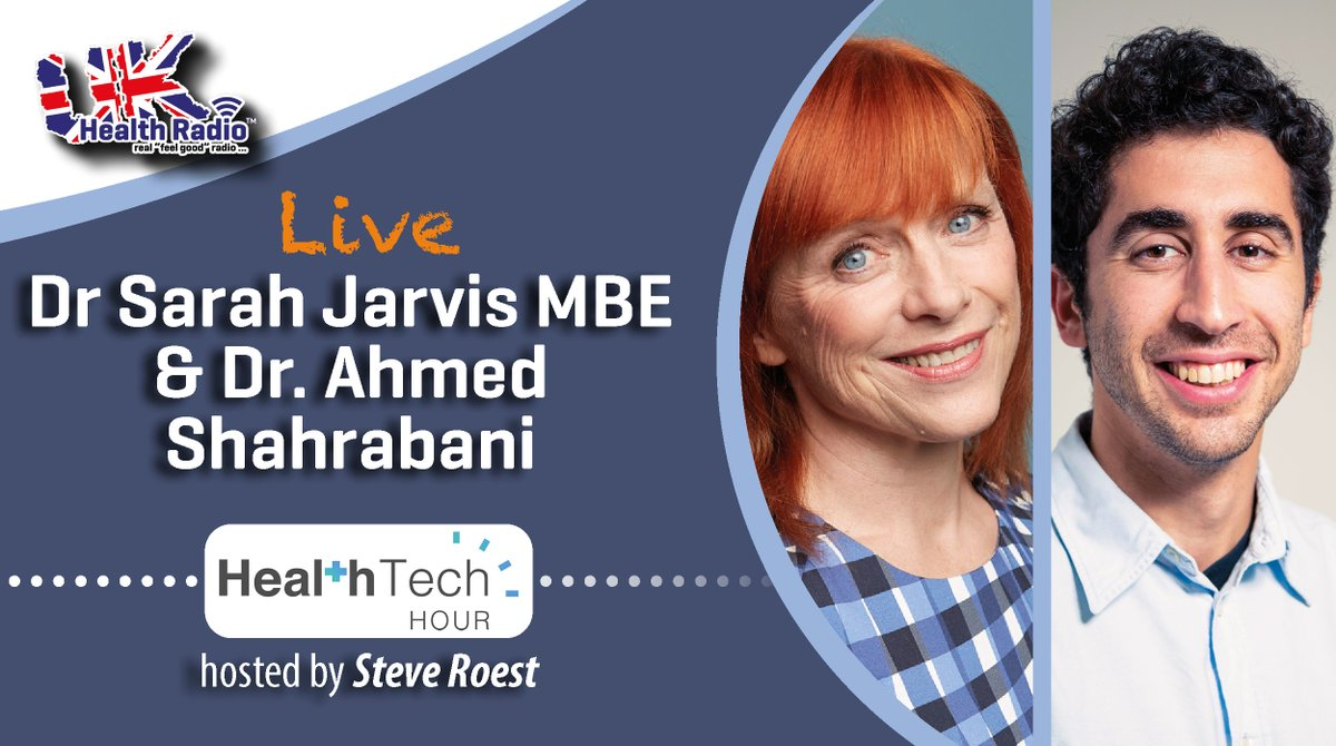 Listen to @healthtechhour with Steve Roest CEO of @MyPocdoc on @ukhealthradio - Live at 1pm UK time with guests @DrSarahJarvis &  Co-Founder Dr @ahmedshahrabani. 👉 🎧   #NIAinnovation #HealthTech #TechForGood #DigitalHealth #Healthcare #Tech4Good