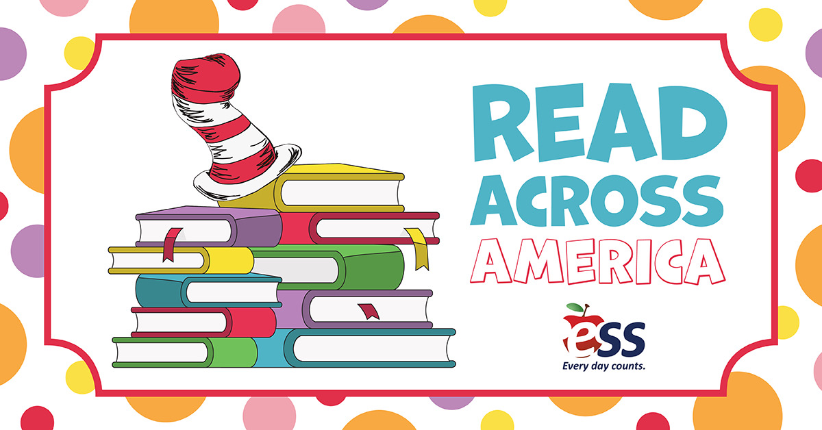 """Happy #ReadAcrossAmericaDay! """"The more that you read, the more things you will know. The more that you learn, the more places you'll go."""" - Dr. Seuss  Happy reading! 📚 #ReadAcrossAmerica #DrSeuss #EveryDayCounts #ESSNewJersey #NJSchools #SubstituteTeachers"""