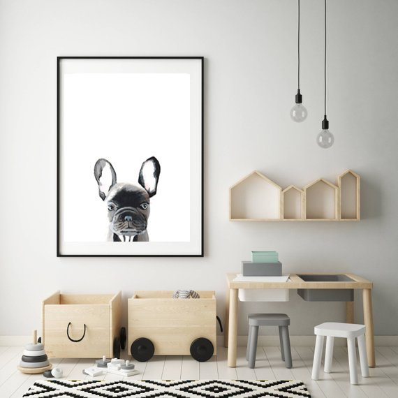 Gaston has a penchant for sausages which often gets him into trouble.  wallart #frenchbulldog #dogs