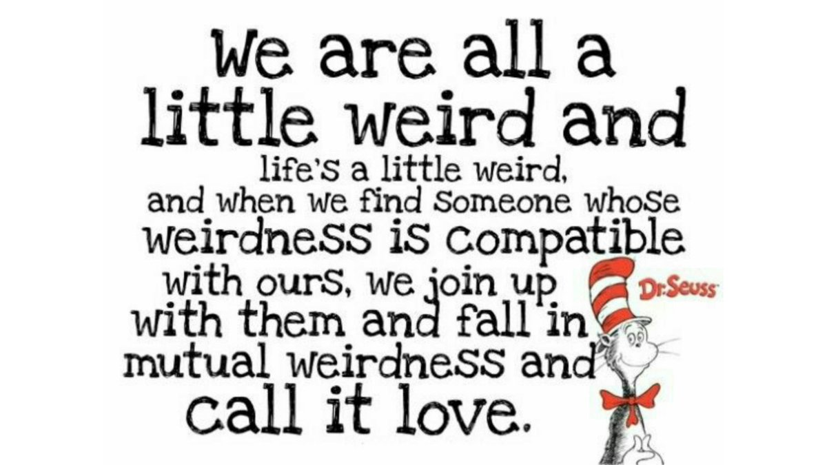Happy birthday, Dr. Seuss!❤  May we all find our mutual weirdo.  ❤❤❤❤❤ #ReadAcrossAmericaDay #DrSeuss