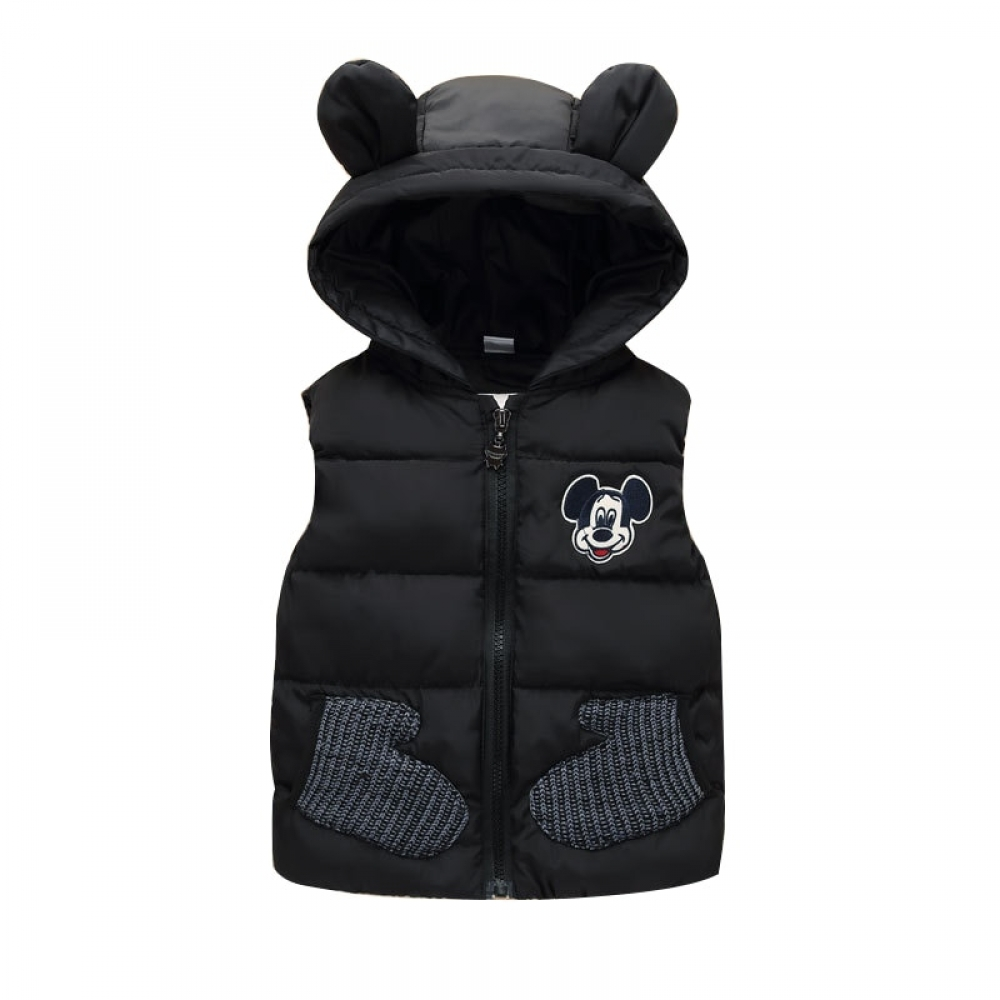 #babygirl #beautiful Boy's Mouse Themed Hooded Vest