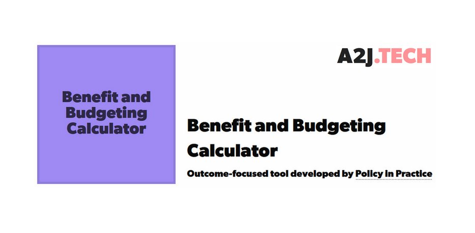 Spotlight on: today we're shining a light on @policy_practice's Benefit and Budgeting Calculator  #accesstojustice #techforgood