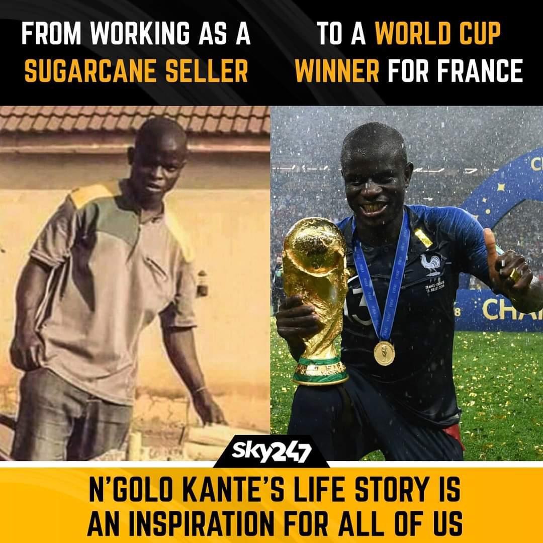 .@nglkante is a prime example of how hard work can take you places.  #Football #NGoloKante #Life #Motivation #FifaWorldCup #France #FranceFootball #Sky247