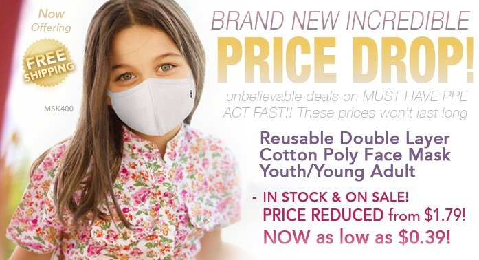 Mask Up for Work & School With New Discounted Masks for Adults & Kids!    #facemasks #facemask #masks #mask #KN95 #Disposablemask #surgicalmask #kidsmasks #PPE #youthmasks #discount #onsale #pricedrop #freeshipping #March2021 #tuesday #tuesdaymotivations