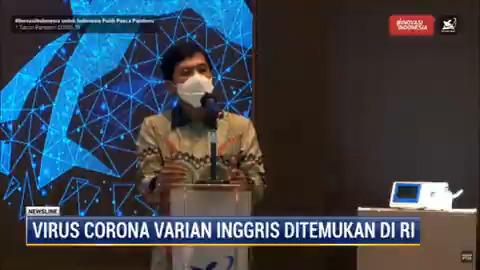 Wakil Menteri Kesehatan Dante Saksono menyatakan dua kasus corona varian Inggris ditemukan di Indonesia. Varian baru ini dinilai para ahli jauh lebih menular.  #NewslineMetroTV #KnowledgeToElevate
