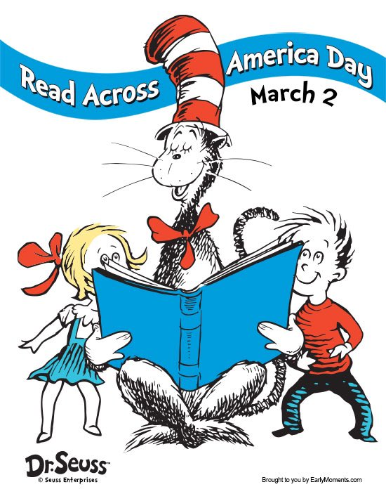 March 2 #ReadAcrossAmericaDay Let's read today, in bed, on chair, in any way, across the Bay, let's read all day! 😃📚😀📚