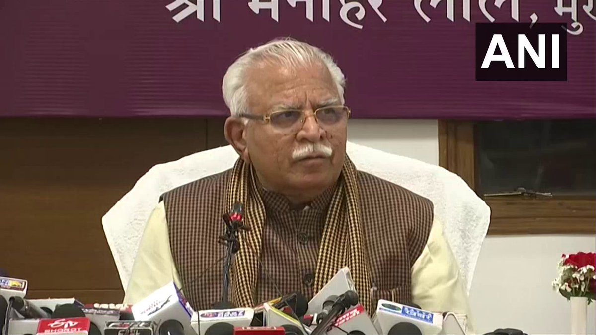 Governor Satyadev Narayan Arya has approved a Bill allowing 75% reservation in private jobs. The government will notify it soon: Haryana Chief Minister Manohar Lal Khattar