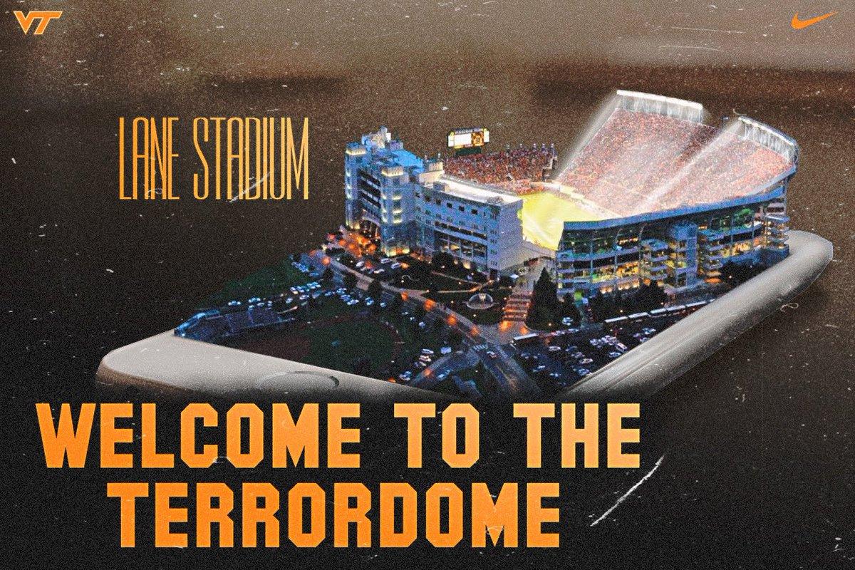 The nickname speaks for itself...#Hokies #Terrordome #HardSmartTough #LaneStadium