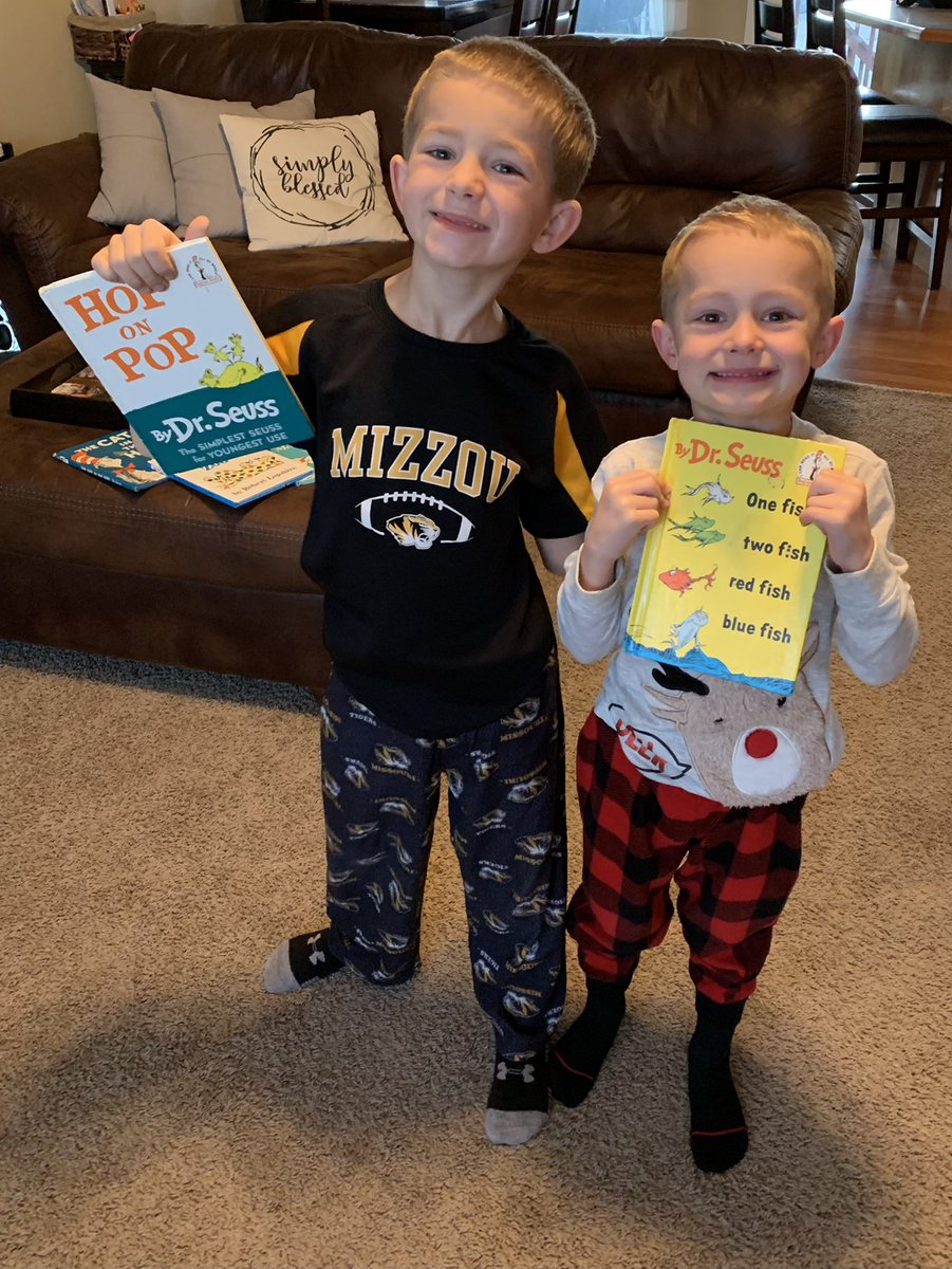 We are not offended!#ReadAcrossAmericaDay  #drseussday #pjday ♥️📚🍎