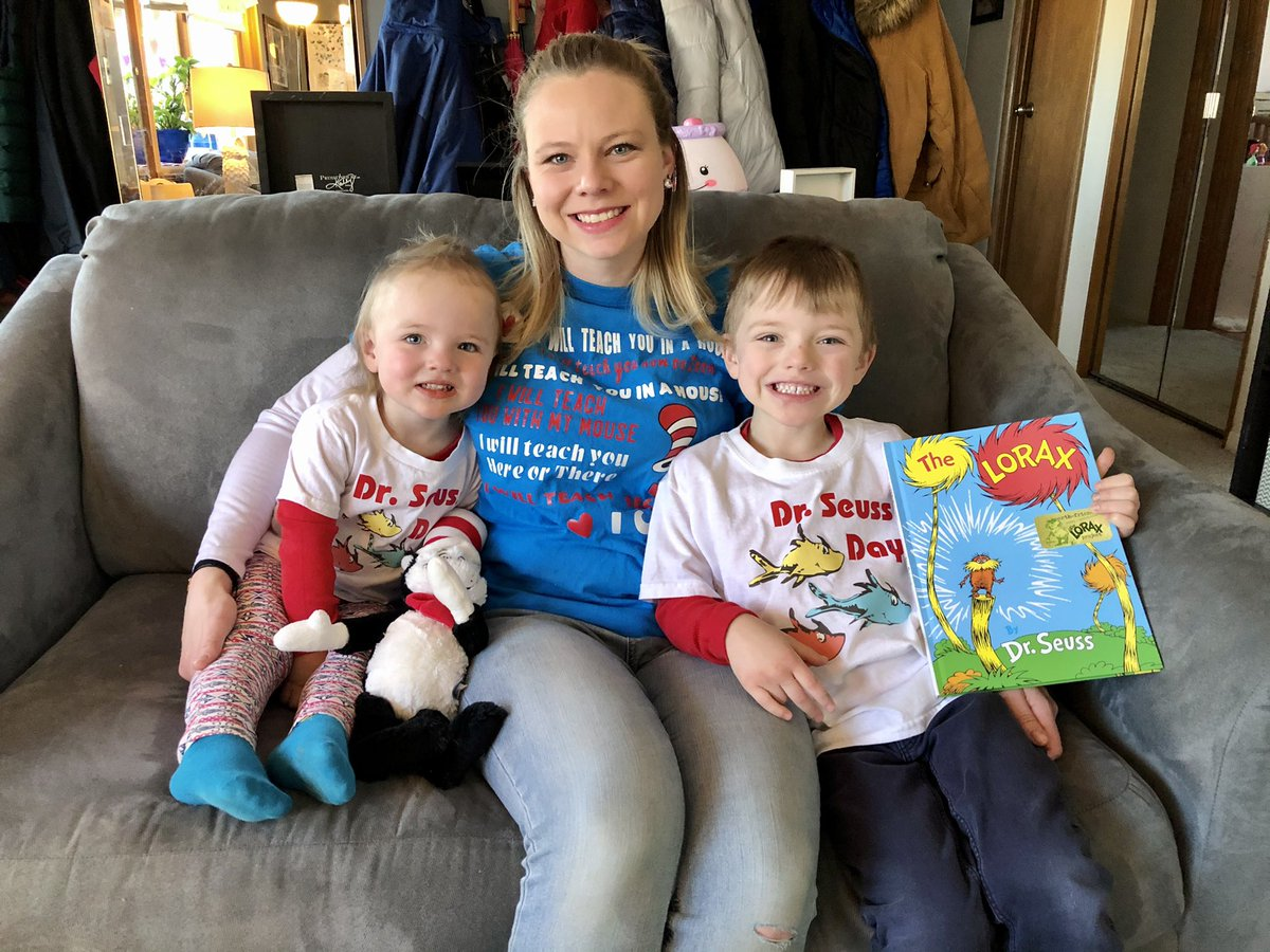 Rocking out #DrSeuss shirts for his birthday and #ReadAcrossAmericaDay! #letsread