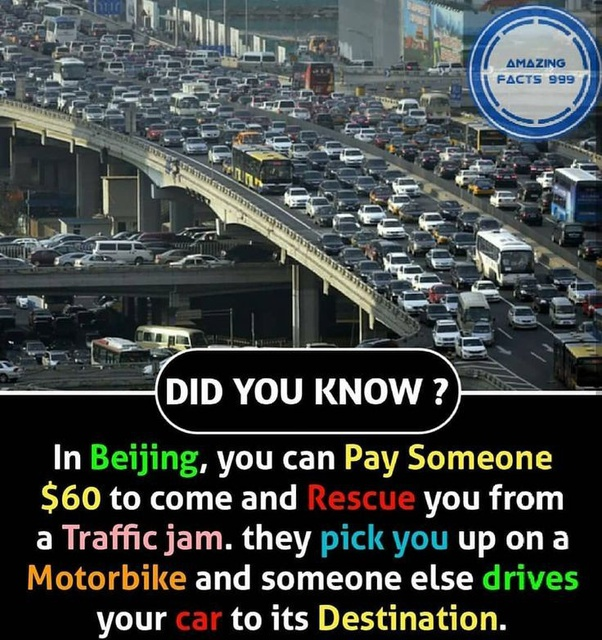 Now this one from #China is absolutely worth recommending without guilt. #Startup enthus, grab this no/low cost #business #idea because #TrafficJams are the biggest pain in a** across #metros & #megacities. #TuesdayThoughts #Entrepreneurship