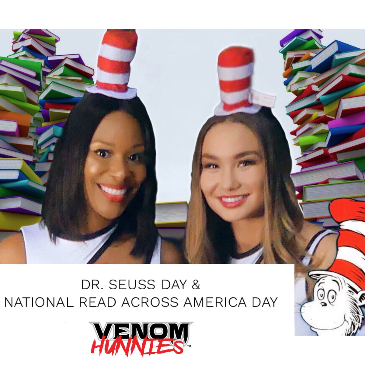 It's #DrSeussDay & #ReadAcrossAmericaDay today! Take a moment to read a book 📚  #read #reading #reader #goodreads #book #books #booklover #bookworm #DrSeuss #readingtime #readmorebooks #readersgonnaread #drseussweek #readacrossamerica #readacrossamericaweek #HunniesCheerleaders