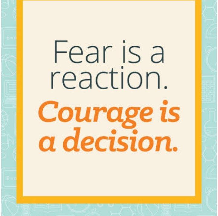 #Fear #Courage #BeBrave #inspirational #motivational