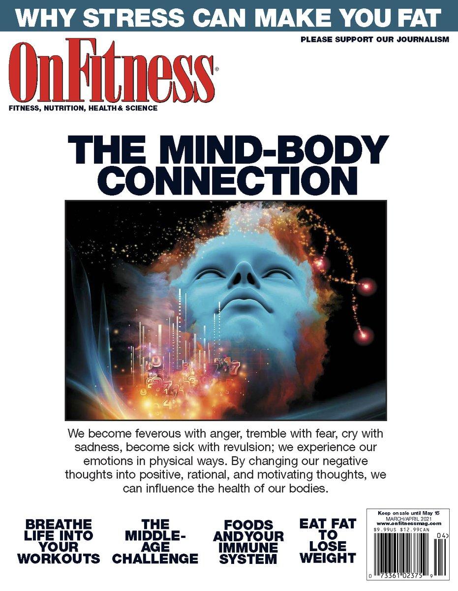 OnFitness Magazine March/April issue.  #mindbody #stress #stressandweightgain #breathe #FitnessMotivation #healthy #tuesdayvibe #tuesdaymotivations #FeelGood #lookgood