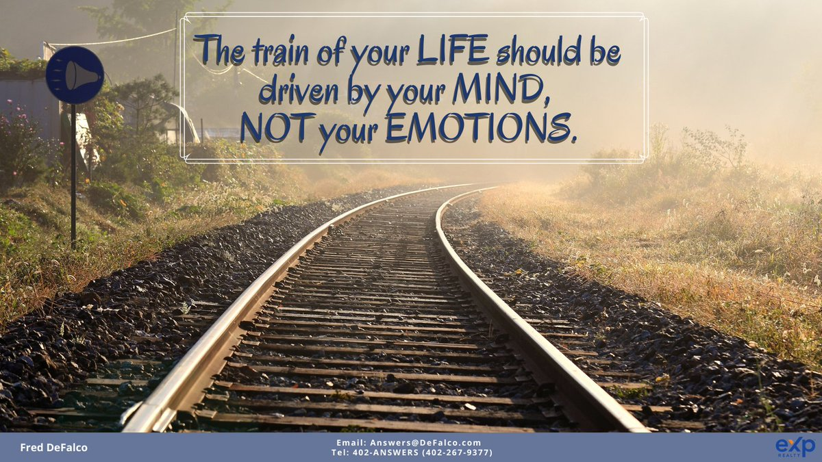 The train of your LIFE should be driven by your MIND,  NOT your EMOTIONS.  #positive #positivevibes #FredDeFalco #SoulFULLWednesday #motivation #positivevibes #positiveenergy #world #seetheworld #courage #heart #quotes #quotesdaily #freddefalcoswordsofwisdom