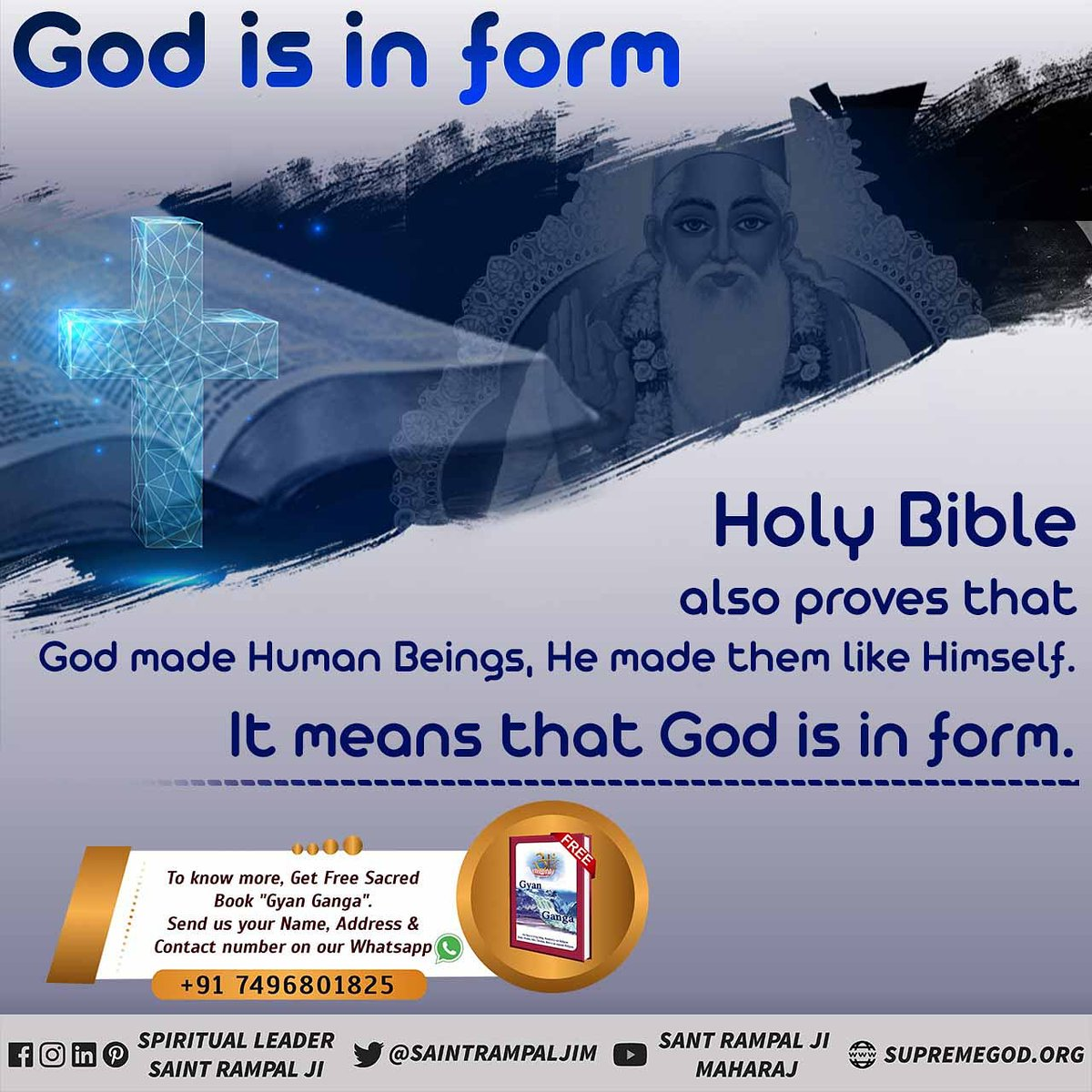 #TuesdayThoughts  #Allah_CanBe_Seen Holy Quran proves that Allah Kabir Saheb Ji is the Almighty God. He alone is immortal and worthy of being worshipped. #TuesdayMotivation   👉Last Prophet Sant Rampal ji